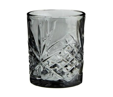 Madam Stoltz Lemonade glass gray glass ∅8x10cm