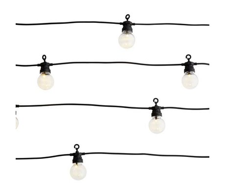 Madam Stoltz Light chain black plastic 8,5m 10 led