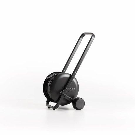 ZEE Reel Tasman tuyau d'arrosage trolley noir acier pvc 62x50x60cm