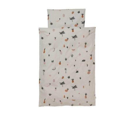 Ferm Living Bettbezug Fruiticana Baby Mehrfarben Baumwolle 70x100cm inkl. Kissenbezug 46x40cm