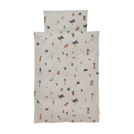 Ferm Living Duvet cover Fruiticana Baby multicolour cotton 70x100cm incl. Pillowcase 46x40cm