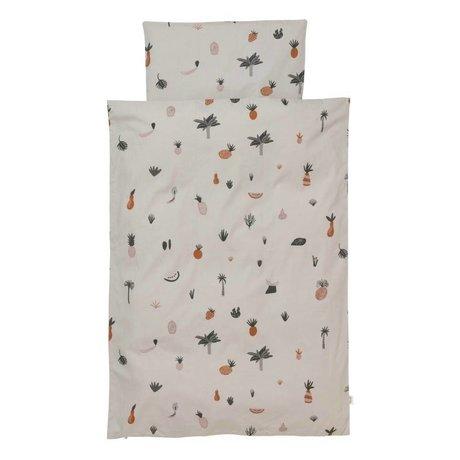 Ferm Living Bettbezug Fruiticana Junior Mehrfarben Baumwolle 100x140cm inkl. Kissenbezug 46x40cm