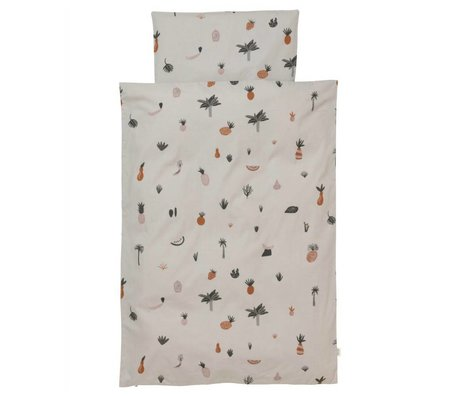 Ferm Living Bettbezug Fruiticanana Multicolor Baumwolle 140x200cm inkl. Kissenbezug 63x60cm