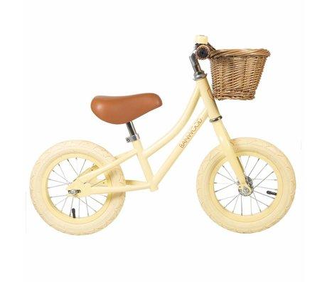 Banwood Kinderloopfiets First Go vanille geel 65x20x41cm