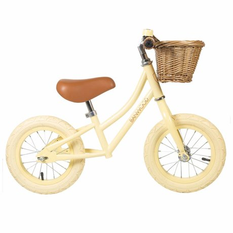 Banwood Children's running bike First Go vanilla yellow 65x20x41cm