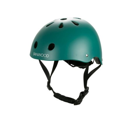 Banwood Fahrradhelm Kind dunkelgrün 24x21x17,5 cm