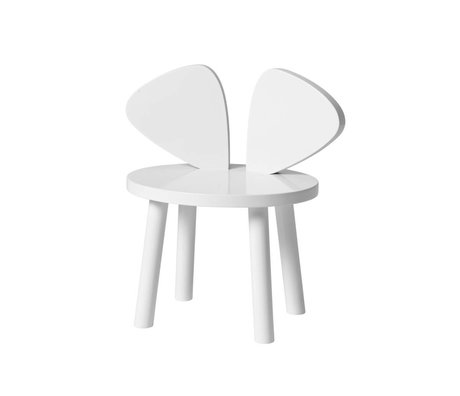 NOFRED Toddler chair Mouse white wood 35x45x28cm