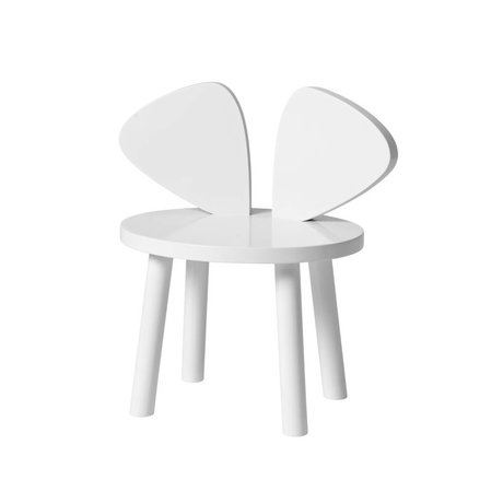 NOFRED Chaise enfant Souris bois blanc 42.5x28x45.9cm