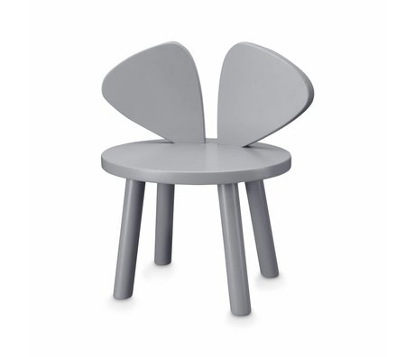 NOFRED Toddler chair Mouse gray wood 42.5x28x45.9cm