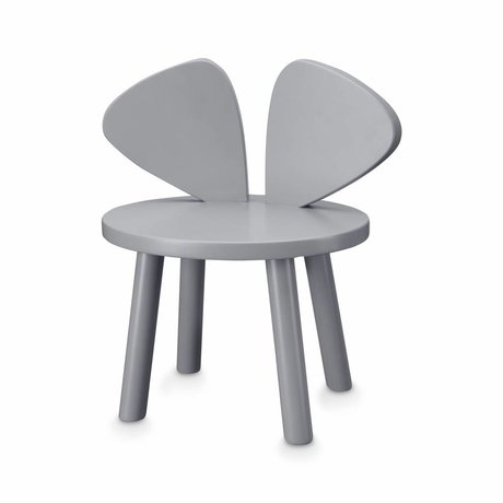 NOFRED Chaise enfant Souris gris bois 35x45x28cm