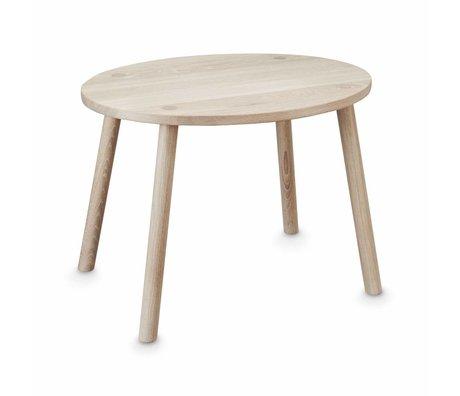 NOFRED Table pour enfants Souris naturel bois brun 54x39x43.7cm