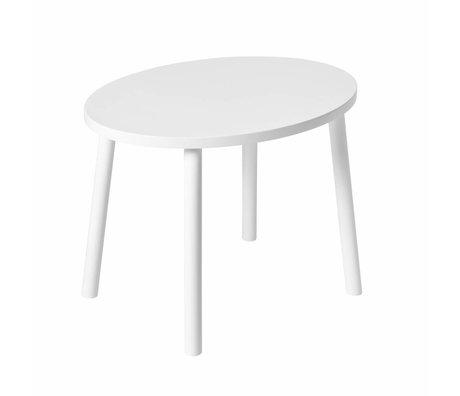 NOFRED Kindertisch Maus weiß Holz 54x39x43.7cm