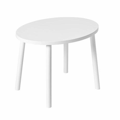 NOFRED Kindertisch Maus weiß Holz 46x60x43,5cm