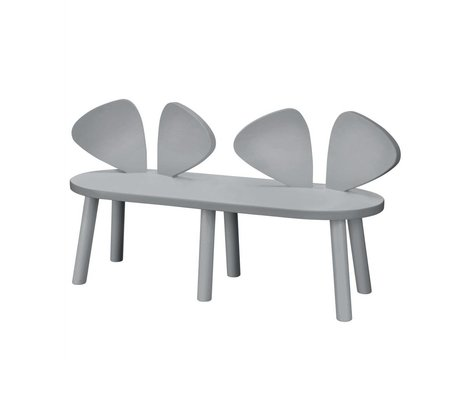 NOFRED Children's bench Mouse gray wood 87.2x28x45.9cm