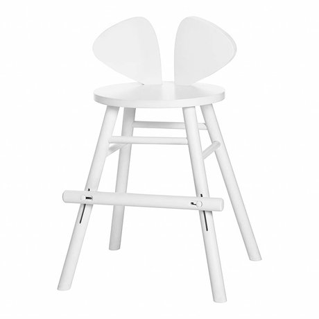 NOFRED Children's stool Mouse white wood 40,3x53x32,8cm