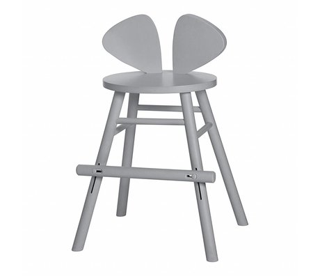 NOFRED Children's stool Mouse gray wood 51.6x43.9x77.3cm