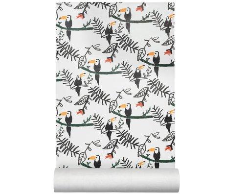 NOFRED Behang Tucan multicolour vliesbehang 50x40,6cm
