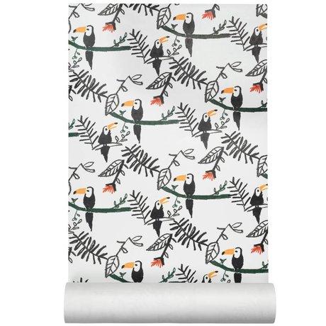 NOFRED Wallpaper Tucan multicolour non-woven wallpaper50x62,19cm