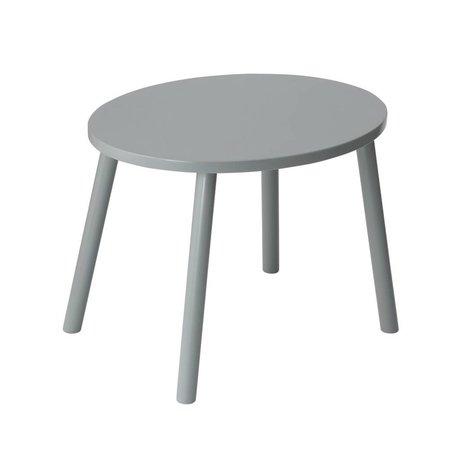 NOFRED Table d'enfant Souris gris bois 46x60x43,5cm