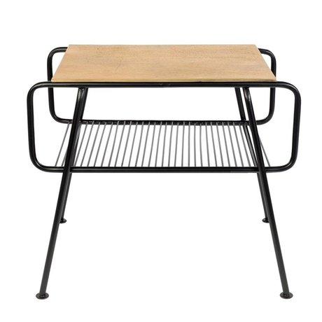 Zuiver Table d'appoint Gunnik laiton or métal noir 50,5x36x43,5cm