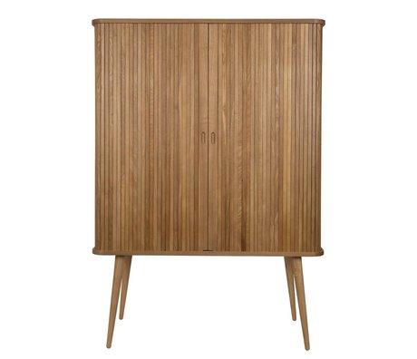 Zuiver Schrank Barbier natürliches braunes Holz 100x45x140cm