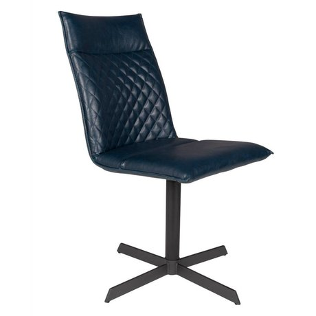 LEF collections Chair Rio blue PU leather 47x 61.5x 89.5 cm