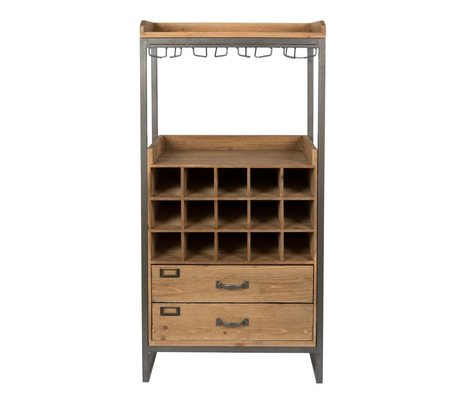 LEF collections Cabinet cabinet Moscow brown wood metal 56x38x112,5cm