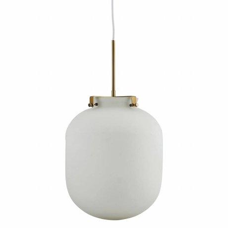 Housedoctor Boule pendentif lumière verre gris 30x30x35cm métallique