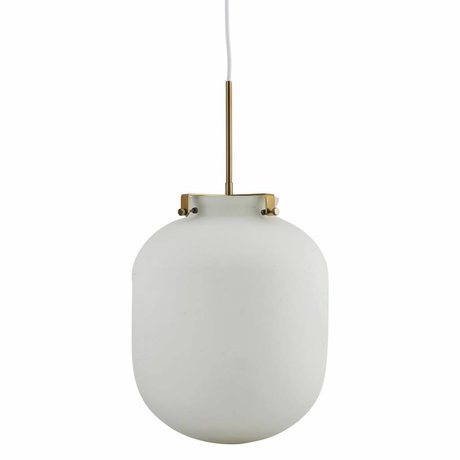 Housedoctor Hanglamp Ball wit glas metaal 30x30x35cm
