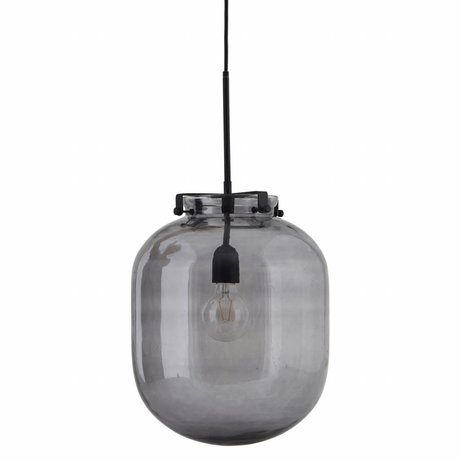 Housedoctor housedoctor hanging lamp ball gray glass metal 30x30x35cm