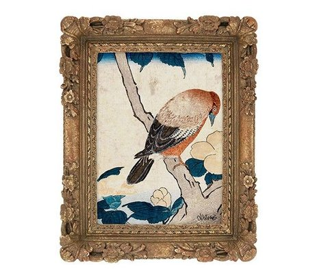 HK-living Frame Palbomen antique look printed multicolor synthetic 23,5x18,5x3cm