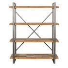LEF collections Schrank Amsterdam braun grau Holz Metall 120x39x149cm