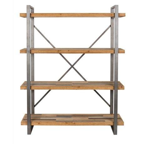 LEF collections Kast Amsterdam bruin grijs hout metaal 120x39x149cm