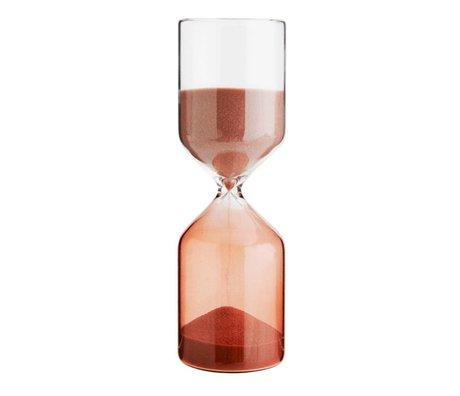Madam Stoltz Sanduhr Zweifarbiges Fuchiasandglas 5,8x18cm