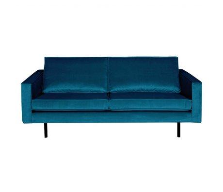 BePureHome Bank Rodeo 2,5-zits blauw fluweel velvet 190x86x85cm