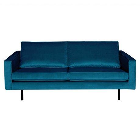 BePureHome Sofa Rodeo 2.5-seater blue velvet velvet 190x86x85cm