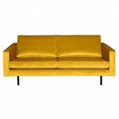 BePureHome Bank Rodeo 2,5-zits oker geel fluweel velvet 190x86x85cm