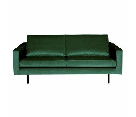 BePureHome Sofa Rodeo 2.5-seater Green Forest green velvet velvet 190x86x85cm