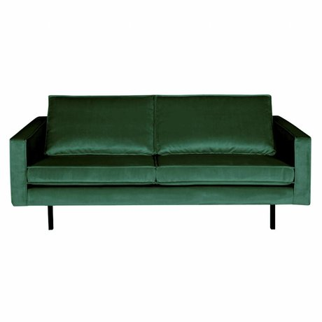 BePureHome Bank Rodeo 2,5-zits Green Forest groen fluweel velvet 190x86x85cm