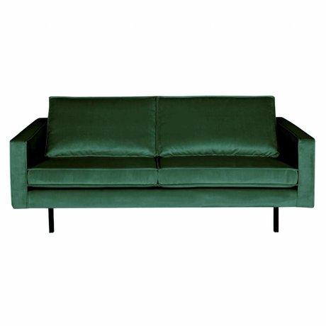BePureHome Sofa Rodeo 2,5-Sitzer Green Forest grüner Samt Samt 190x86x85cm
