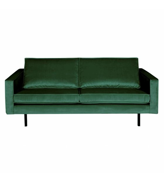 bepurehome bank rodeo 2,5 places velours velours vert green forest