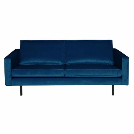 BePureHome Sofa Rodeo 2,5-seat Nightshade dark blue velvet velvet 190x86x85cm