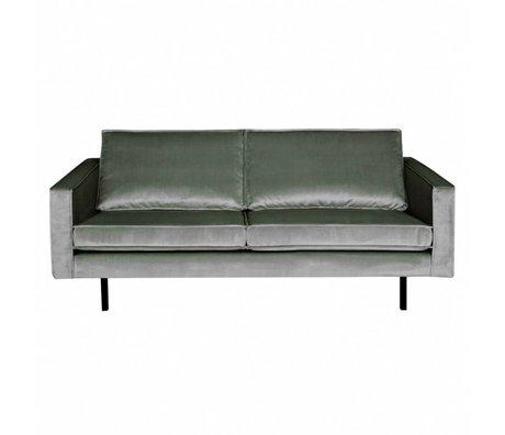 BePureHome Bank Rodeo 2,5-zits midden grijs fluweel velvet 190x86x85cm