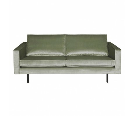 BePureHome Bank Rodeo 2,5 places velours kaki velours vert 190x86x85cm