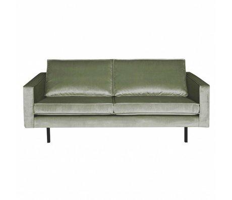 BePureHome Sofa Rodeo 2,5-seat Khaki green velvet velvet 190x86x85cm