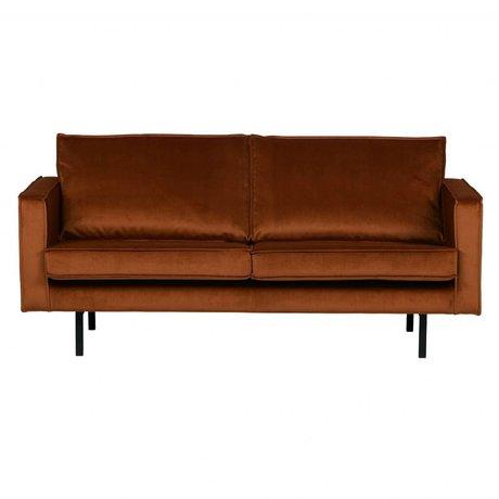 BePureHome Sofa Rodeo 2,5-Sitzer rostorange Samt Samt 190x86x85cm