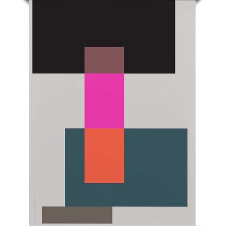 Paper Collective Poster Wrong Geometry 01 papier multicolore 50x70cm