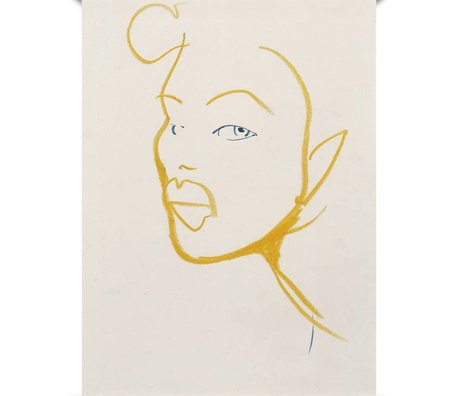 Paper Collective Poster Silhouette 03 en papier jaune blanc 50x70cm