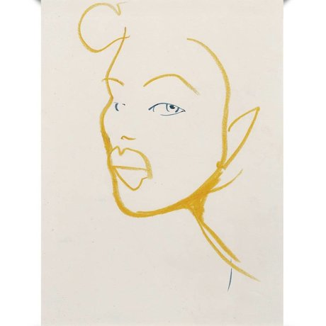 Paper Collective Poster Silhouette 03 aus weissem gelbem Papier 50x70cm