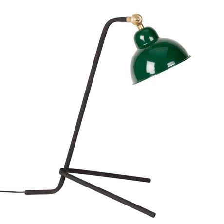 LEF collections Lampe de bureau Chelsea vert métal 29x35,5x49,5cm